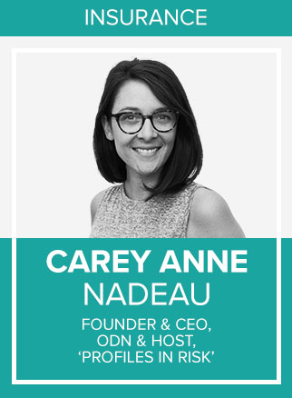 - Carey Anne Nadeau is an entrepreneur and MIT-trained statistician, focused on modernizing the measurement of risk. As a Researcher at the Brookings Institution and Urban Institute, Carey Anne developed novel geospatial methods of evaluating risk in urban economies. She went on to found ODNsure, which uses machine learning to deliver targeted marketing and efficient quoting for auto insurance. She is the host of Profiles in Risk, a podcast featuring similarly influential experts who are transforming insurance.Socials: IN, Podcast