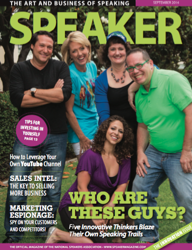 Breakthrough Alert – I was included on the cover of Speaker Magazine with my amazing speaker friends!