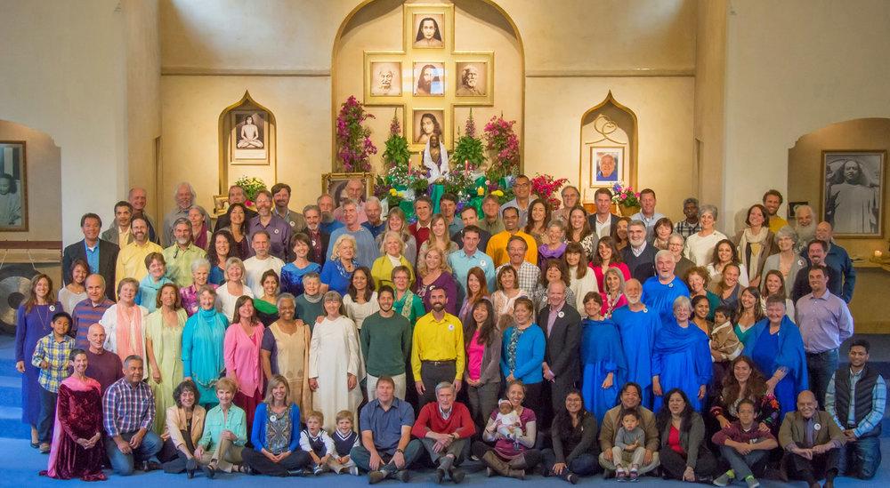 Ananda Palo Alto congregation after a recent Easter celebration