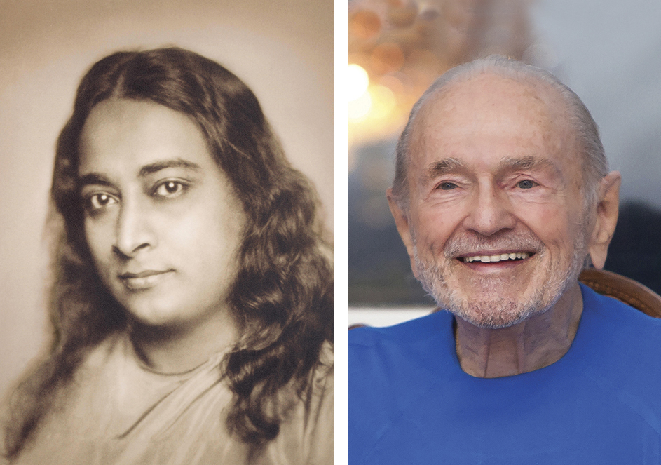 Paramhansa Yogananda    (left) and his disciple,    Swami Kriyananda    •    Our spiritual lineage