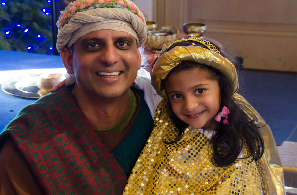 Shepherd and angel at Ananda Palo Alto Christmas Day Family Service.jpg