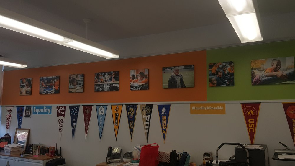 Charter School in Brooklyn, Had to hang over 28 pictures of students