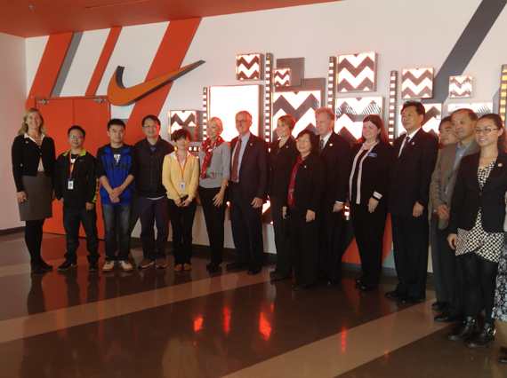 Portland Delegation visit to Nike Taichang Logistic Center 2013