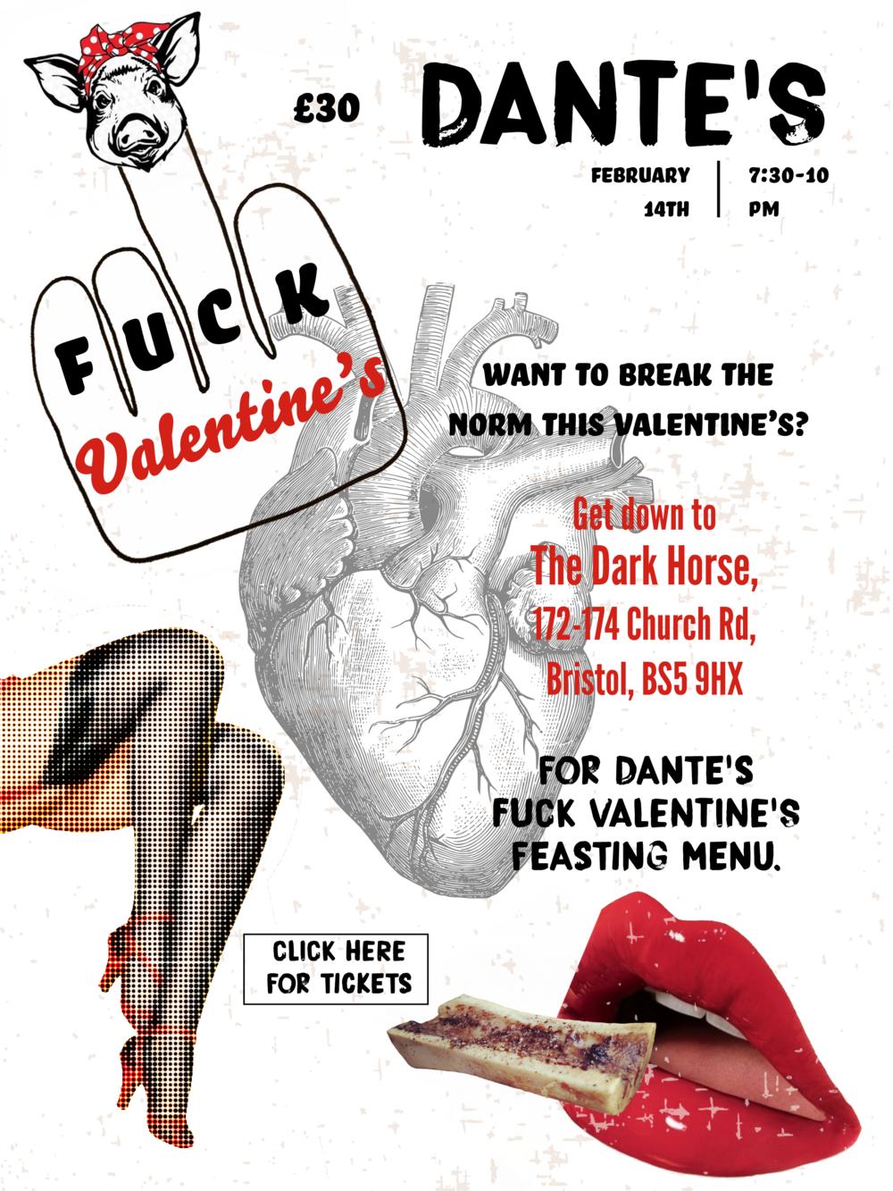 FUCK VALENTINE'S - £30 Feasting Menu @ The Dark Horse