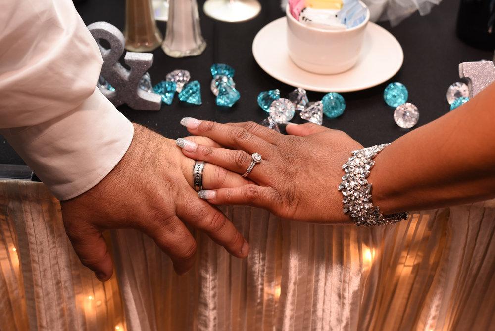 Eugene & Quintavia's wedding rings.