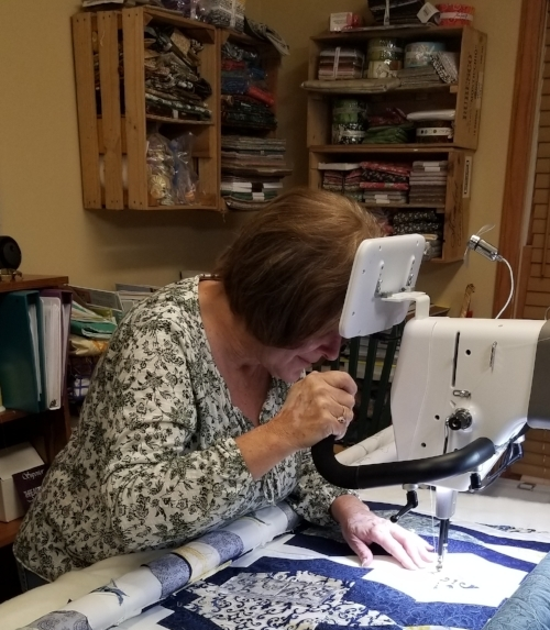Free Motion Quilting on Handi Quilter Amara
