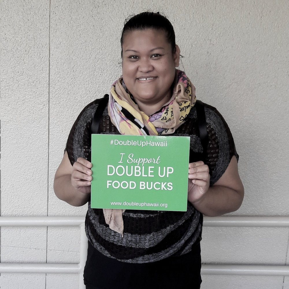 """""""I love to cook - and eat lots of Filipino dishes. So we make pinakbet with all the green vegetables. How would I feel if I got double SNAP benefits for local produce? Oh, ecstatic. That would be awesome.""""~Mary Anne Q., Peer specialist and SNAP farmers market shopper"""