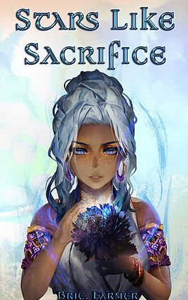 Stars like sacrifice - Written by Brie FarmerReleases February 2019.The stars have manipulated the lives of four beings and they are not done yet. Nyole is soon reunited with Saphryis to rest before finishing princess's memories. During this time, he finds himself drawn closer to her, yet his growing feelings are the least of his worries. The dead king's soul still hides deep with in him, along with a new magic that does not want to listen. Not only that but Saphryis seems focused on keeping his growing feelings at bay and forcing distance. Confused and not willing to give up, he spends every second of the small amount of time they have, with her. But she is keeping secrets once again and King Nyole is not happy about being left out of her plans. Their time to relax soon ends and the last door must be opened. A door that hides what truly happened between her and the late King Pryce. Memories of why her magic and memories are locked away. Who knows of what is to come and just how many people will play a role in the war that is to come. With one final plan to unfold before the war, Saphryis must shatter the heart of the one person that holds hers. In the last bit of calm before the storm, the Stars will put all the beings in place.