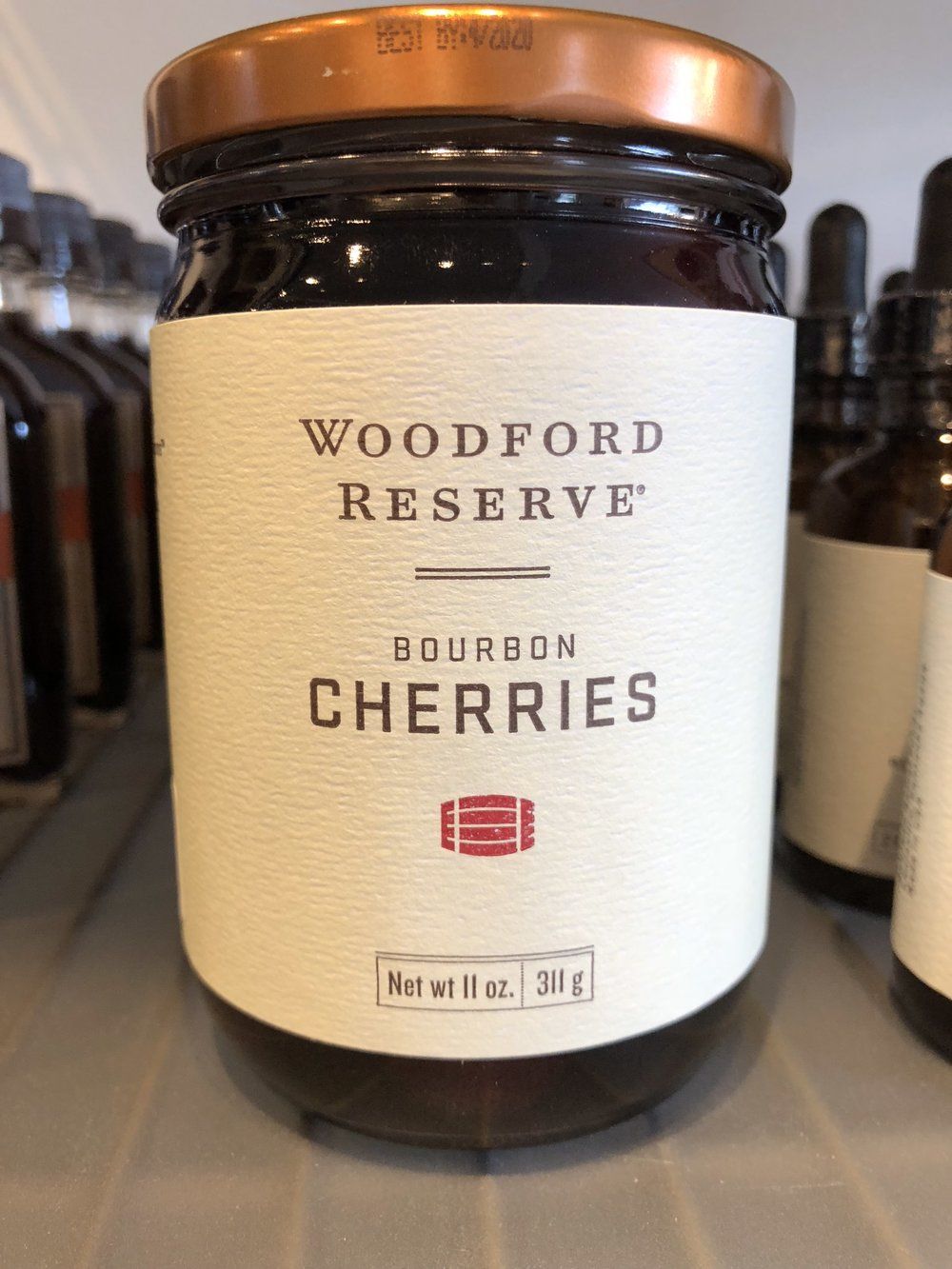 """Pick up a jar of Woodford Reserve Bourbon Cherries for your special holiday """"adult beverages"""""""
