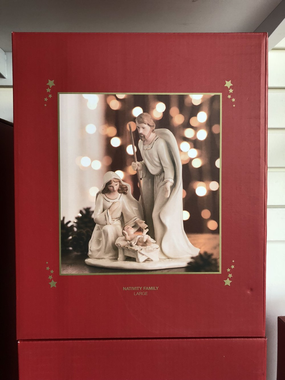 We have three different sizes of Belleek China Nativity sets. Stop in and pick the one that is right for you