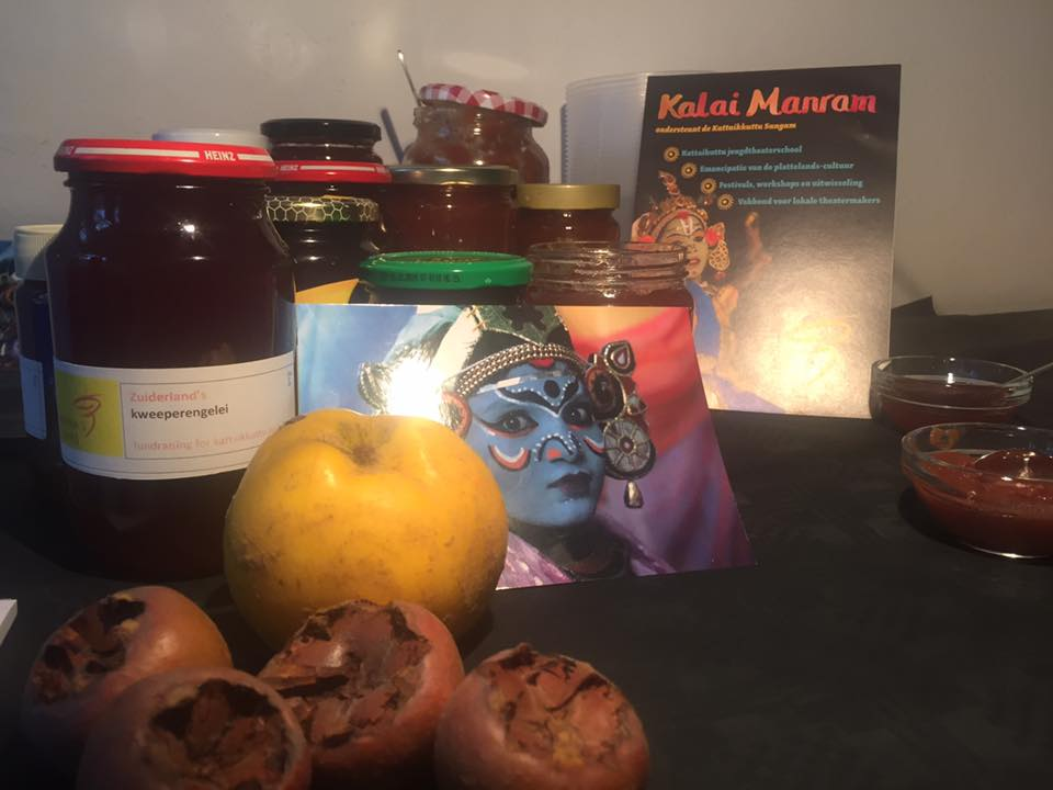 Karna very briefly visited Amsterdam where Ruth de Bruin sold home-made quince jelly on his behalf.  25 November 2018