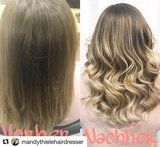 Made by @mandythielehairdresser #erfurt #thüringenparkerfurt  #massonfriseure #ichliebemeinehaare #vorhernachher #balayage #hairinspo #hairoftheday #kerastase #curlyhair #ghd #haircolor #lorealprofessionnel #hair #hairstyles #inspo