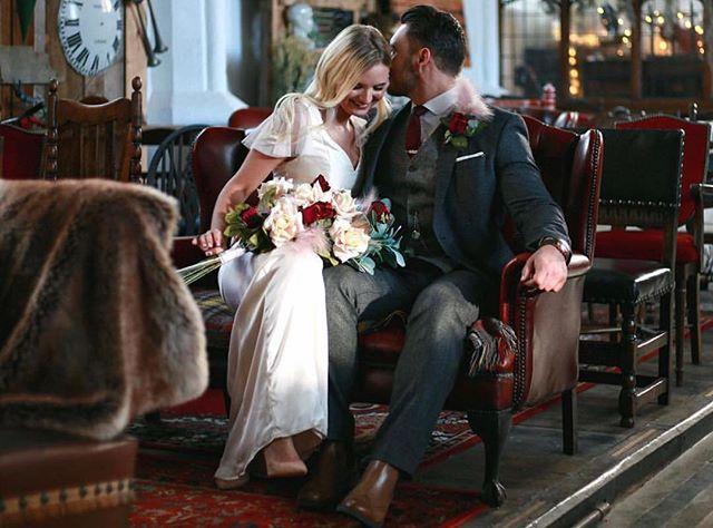 Beautiful photo taken inside our venue.  Photo: @ledbylightphotography  Flowers: @vintage_silk  Dress: @tattysoriginal  Models: @liammboyle @ieva.raustyte  #norfolkwedding #norwichwedding #norfolkbrides #theflintroom #norwichceremonies #weddingphotography #norfolk #norwich #weddings #bride #groom #formerchurch #ceremony #nonreligious #alternative #bespoke #love  #happy #beautiful #weddingparty #celebration #photooftheday #insta #instagood