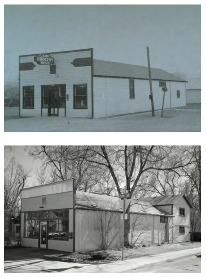 Photographer Jamie Kripke's 100-year- old studio in Boulder, Colorado. Photographed in the early 1920s (top) and today.