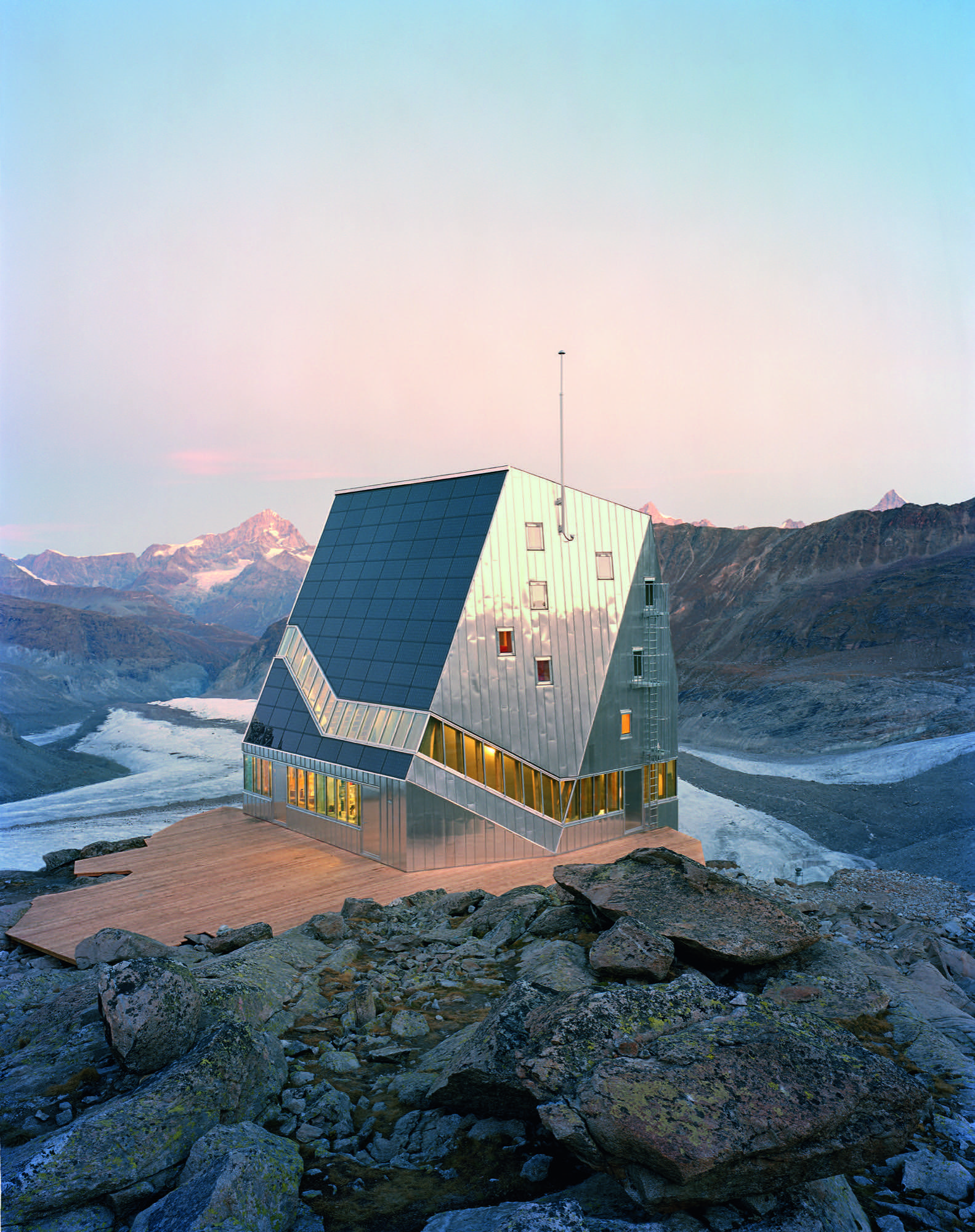 Monte Rosa Hut, Switzerland