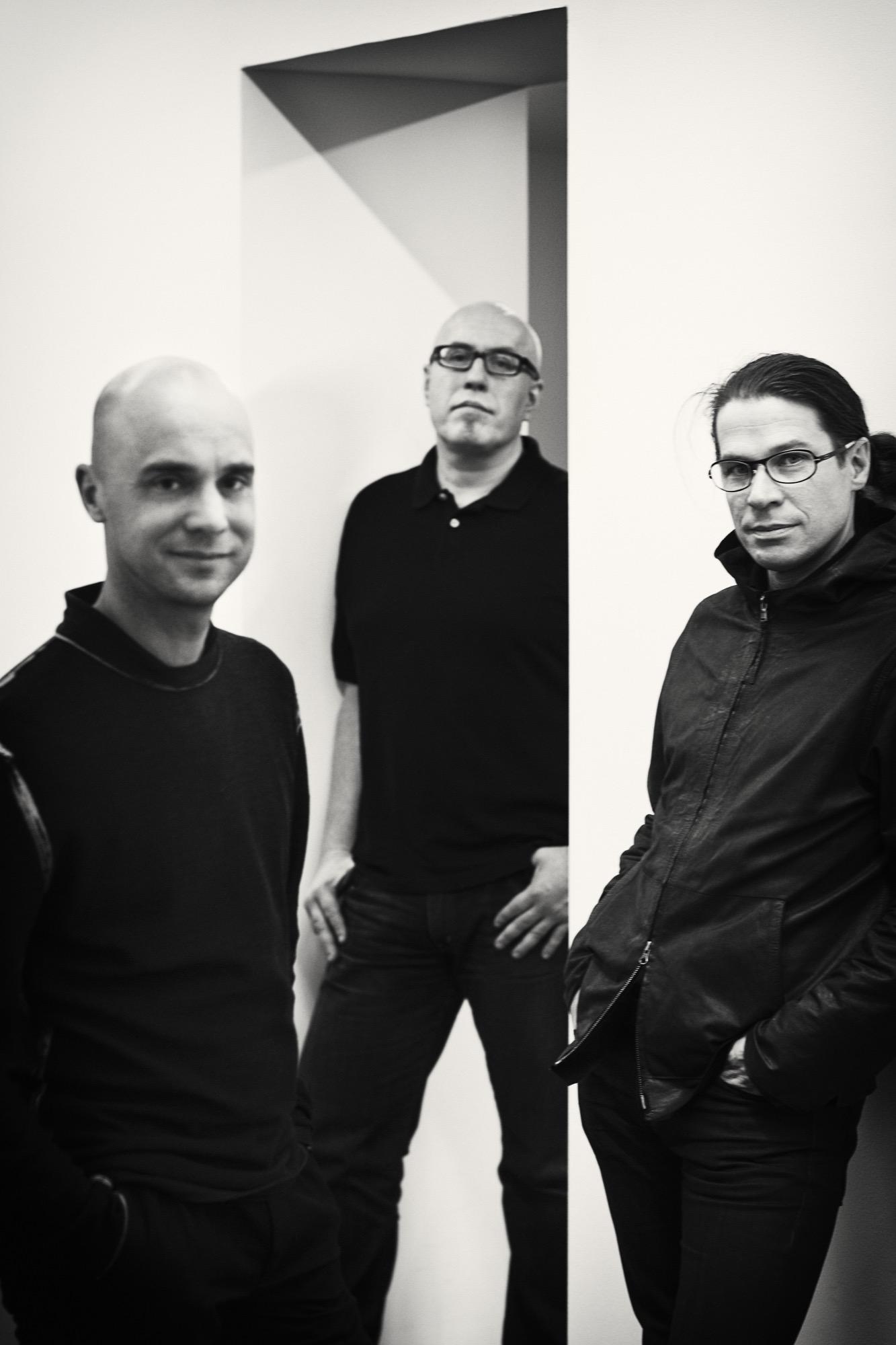 From left: Mårten Claesson, Eero Koivisto, Ola Rune the founders and eponyms of Claesson Koivisto Rune Architects / Photo by Knut Koivisto