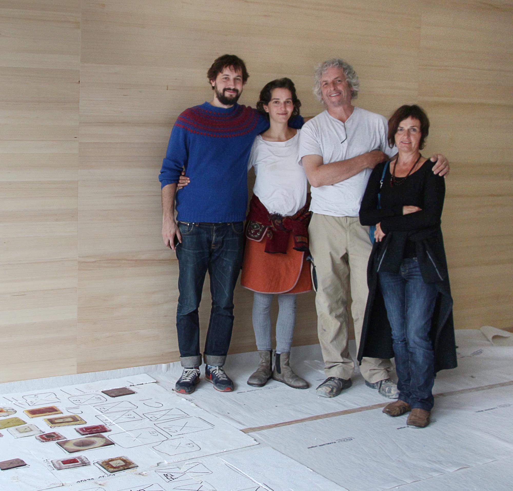 Art runs in the family: Marta, Martin, Anna Pia, and Sebastian Rauch