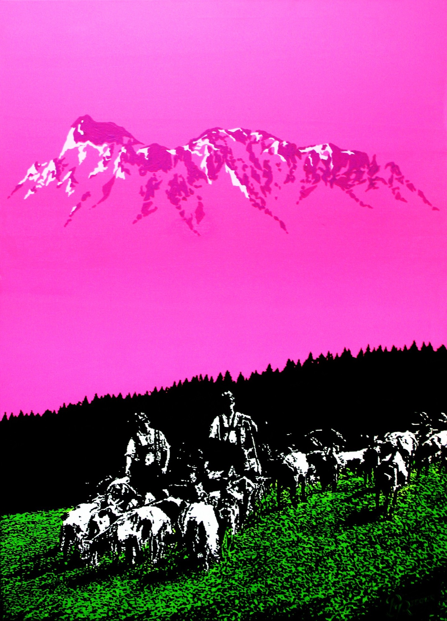 Alpine pop art by Bernhard Rieger