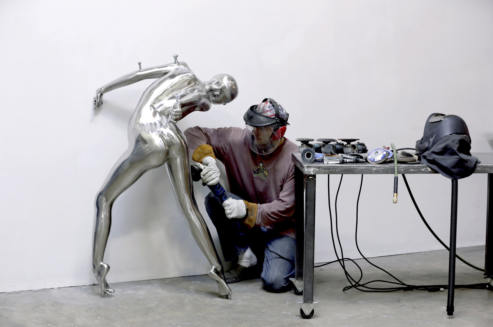 Reutimann at work at his Boulder studio / Photo by Roger Reutimann