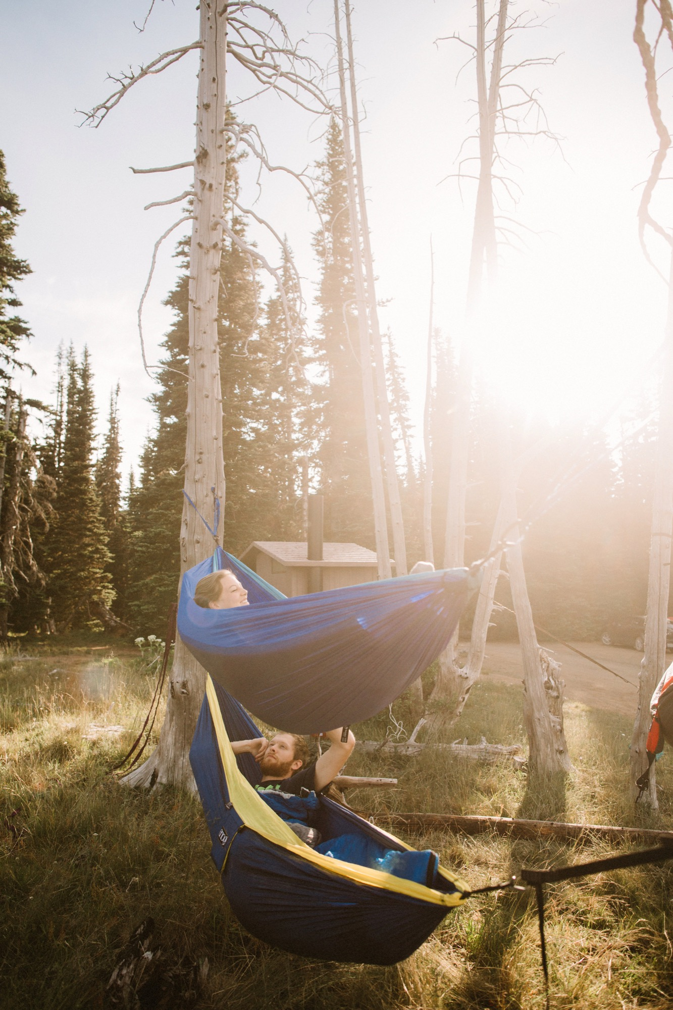 Adventure photographer and wilderness guide—Balkin set up camp for the couple / Photo by Greg Balkin