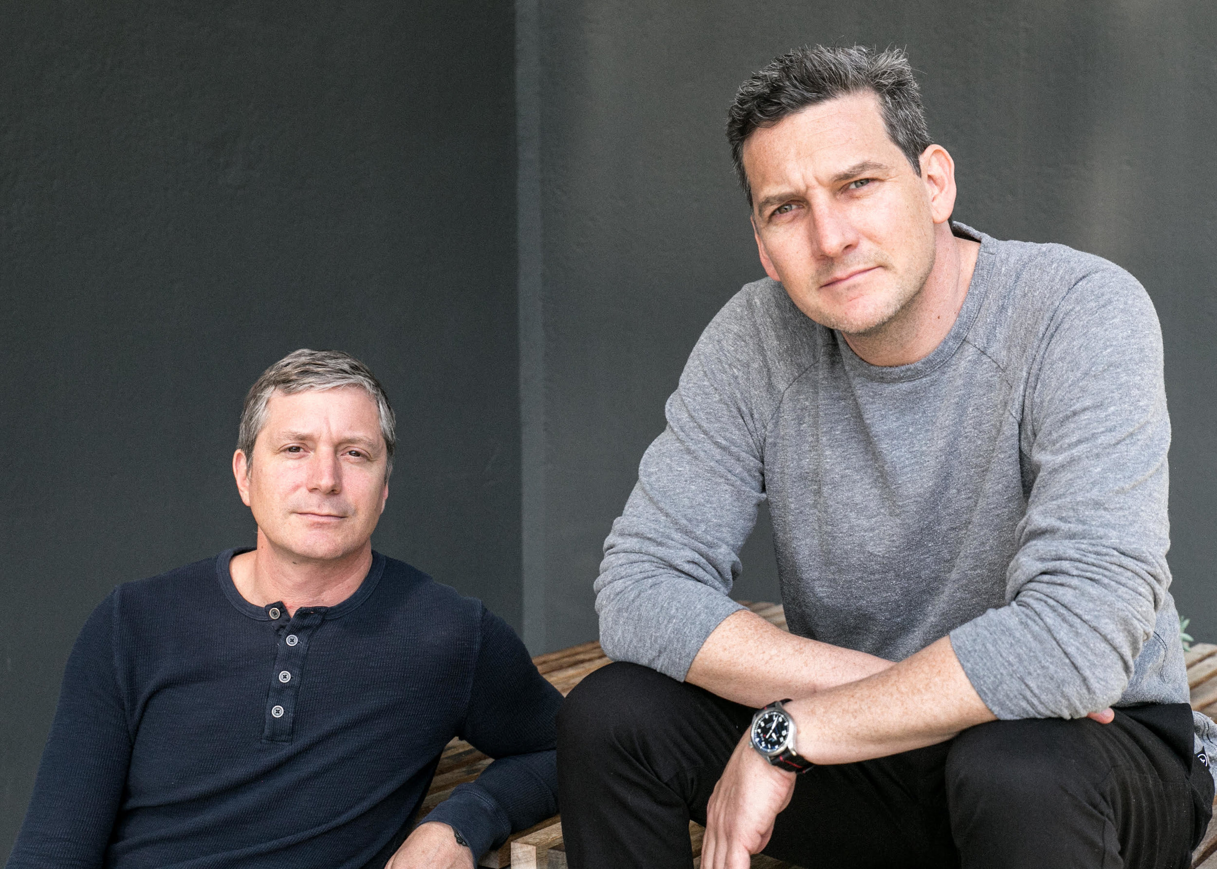 Palmer West (left) and Jonah Smith, founders of Aether Apparel