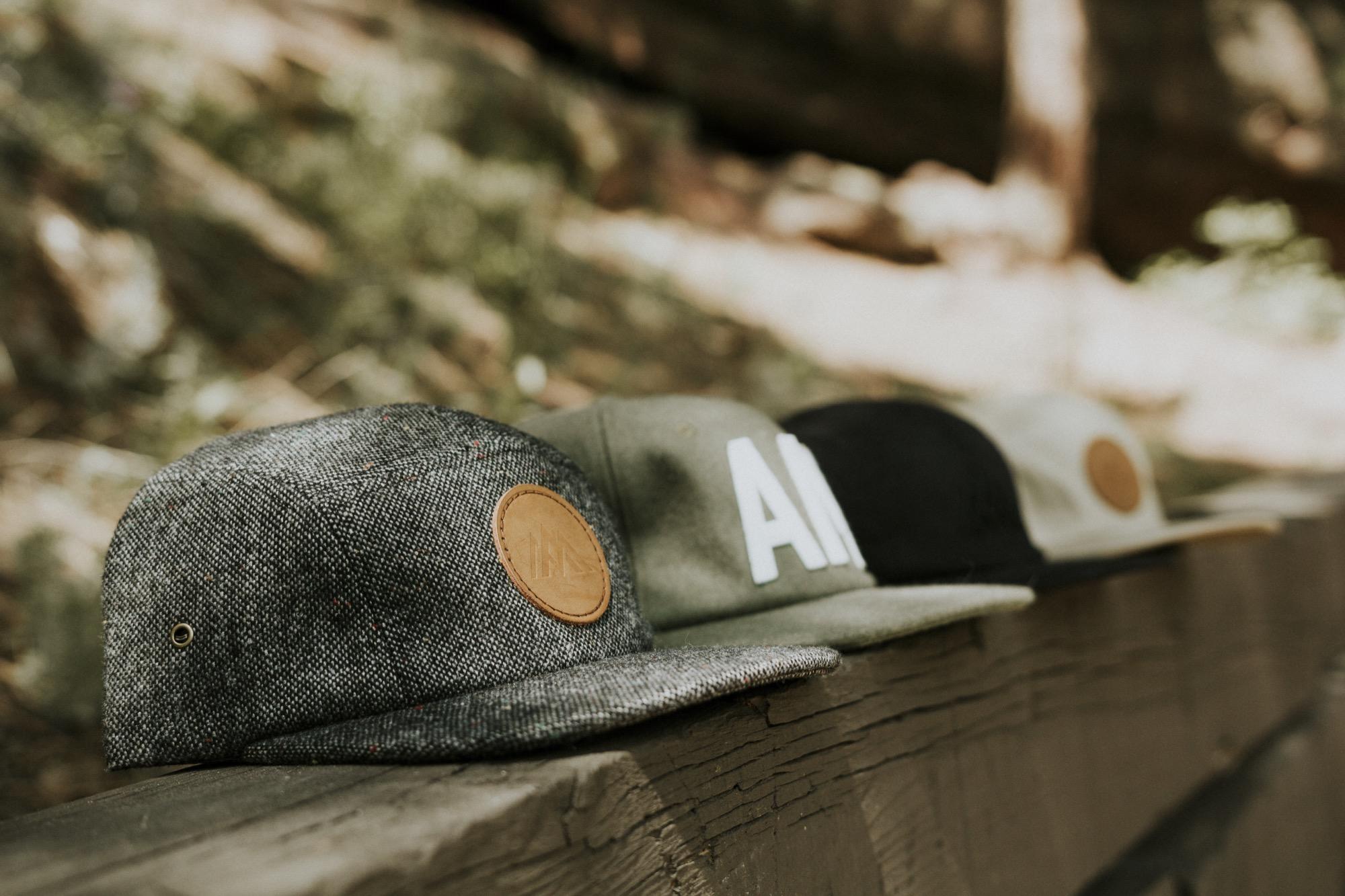 Trademark Poly-Twill Hat, Throwback Six Panel Hat and Trademark Trucker Hat / Alpine Modern Summer 2016 Lookbook / Photo by Garrett King