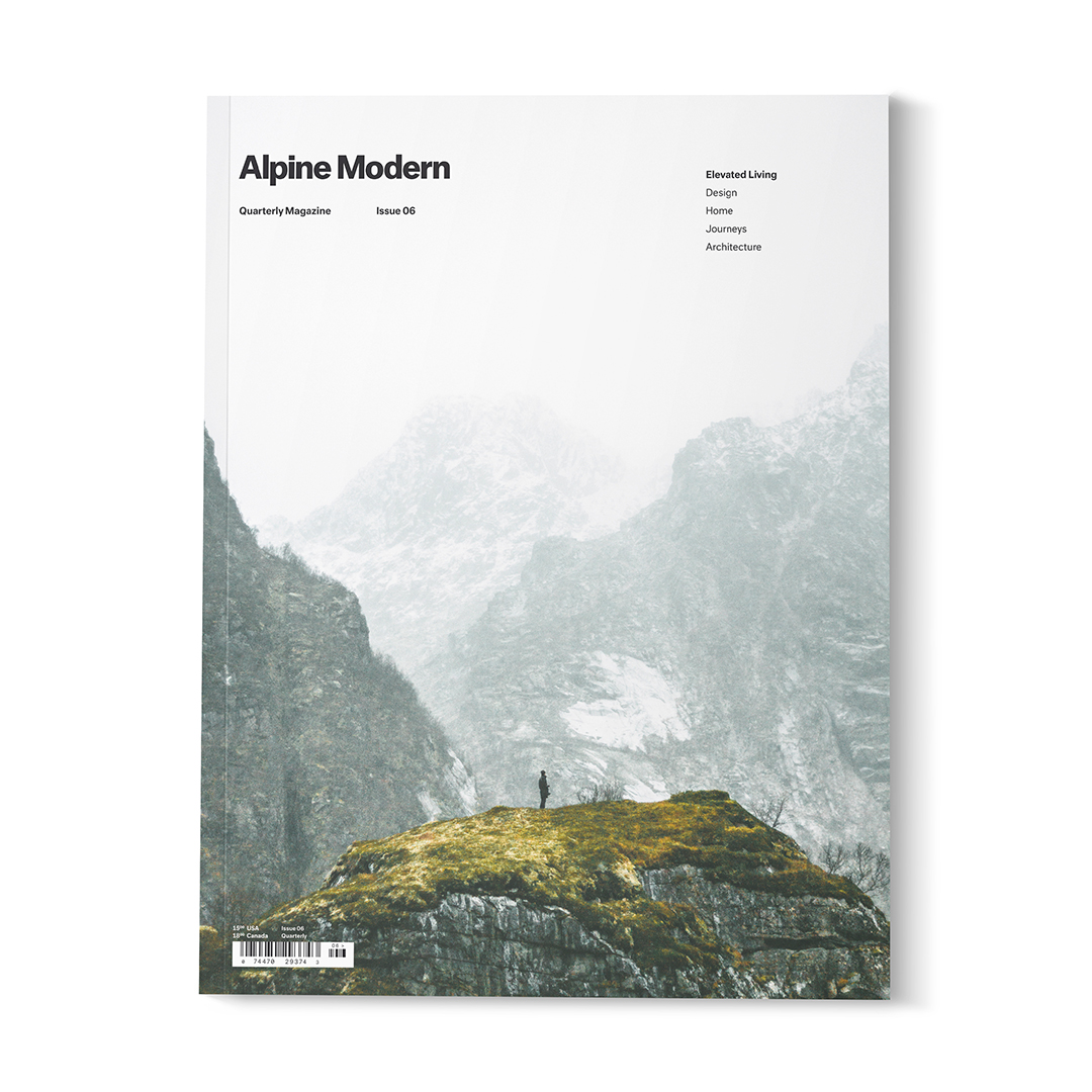 Garrett King shot the cover of Alpine Modern, Issue 06, the final edition of our printed quarterly