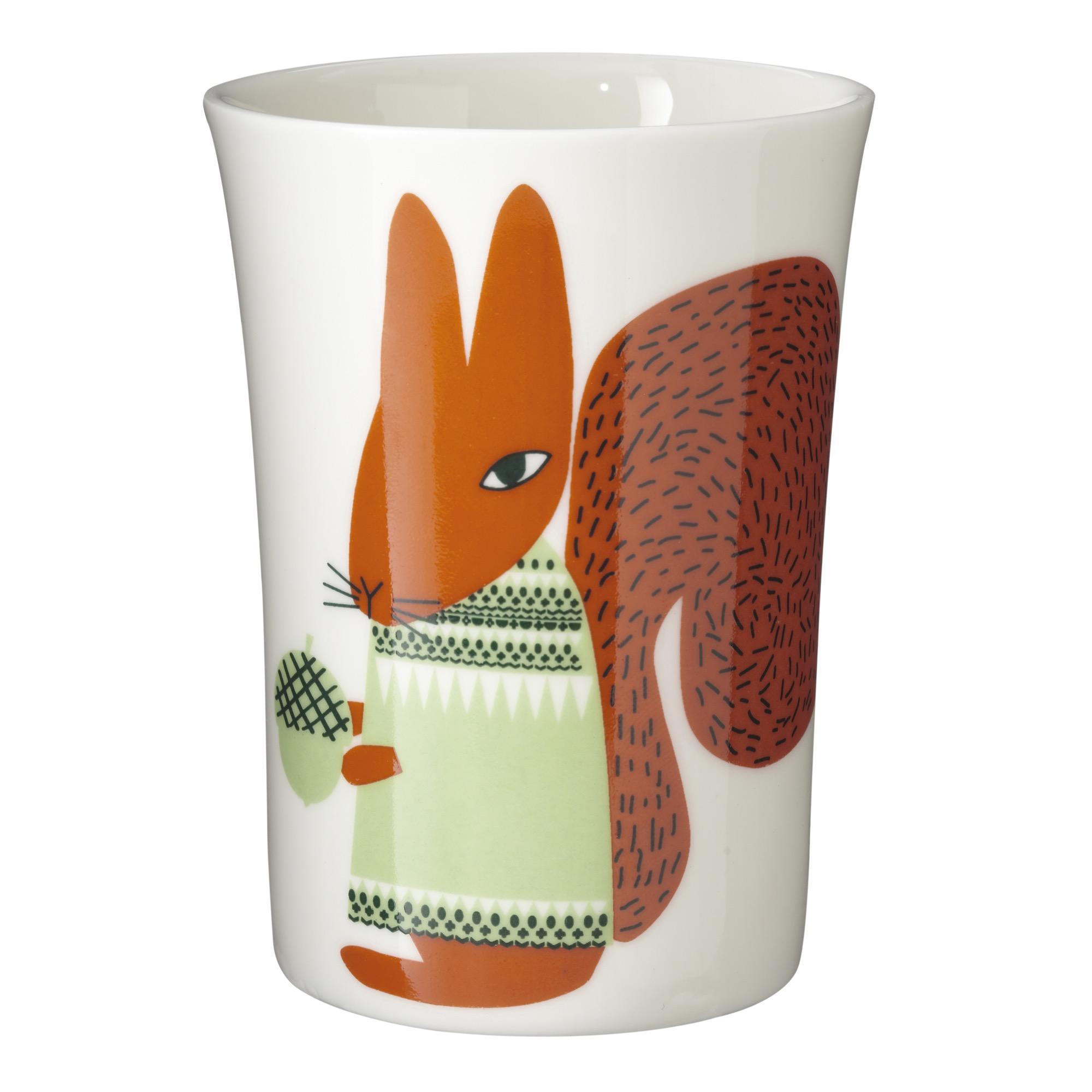 Ceramics squirrel beaker by Donna Wilson