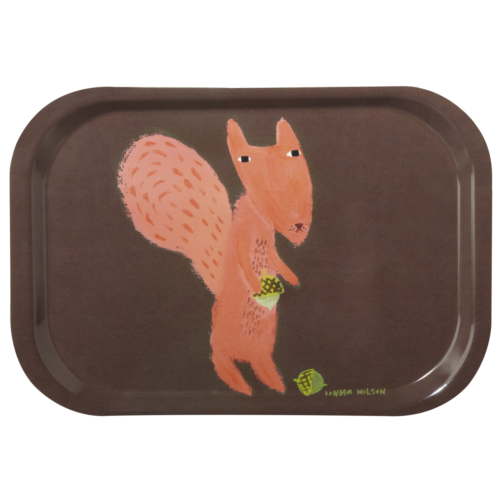 Squirrel tea tray by Donna Wilson