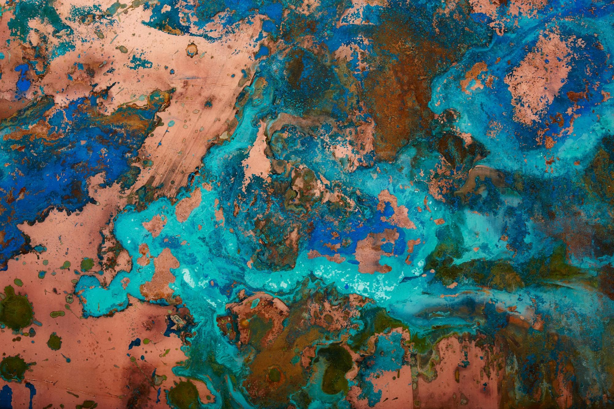 Copper art piece by Sean Woolsey