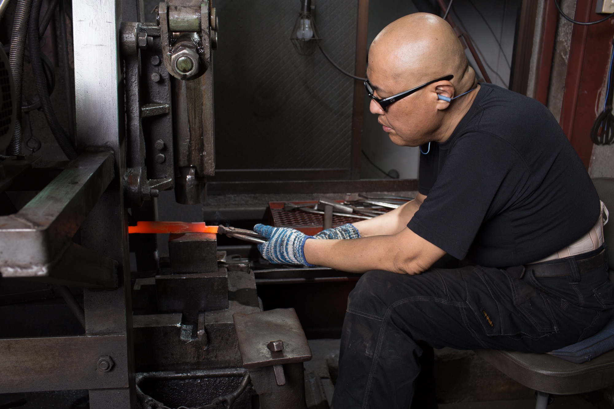 Takeda in his workshop / Photo by Max Hodges