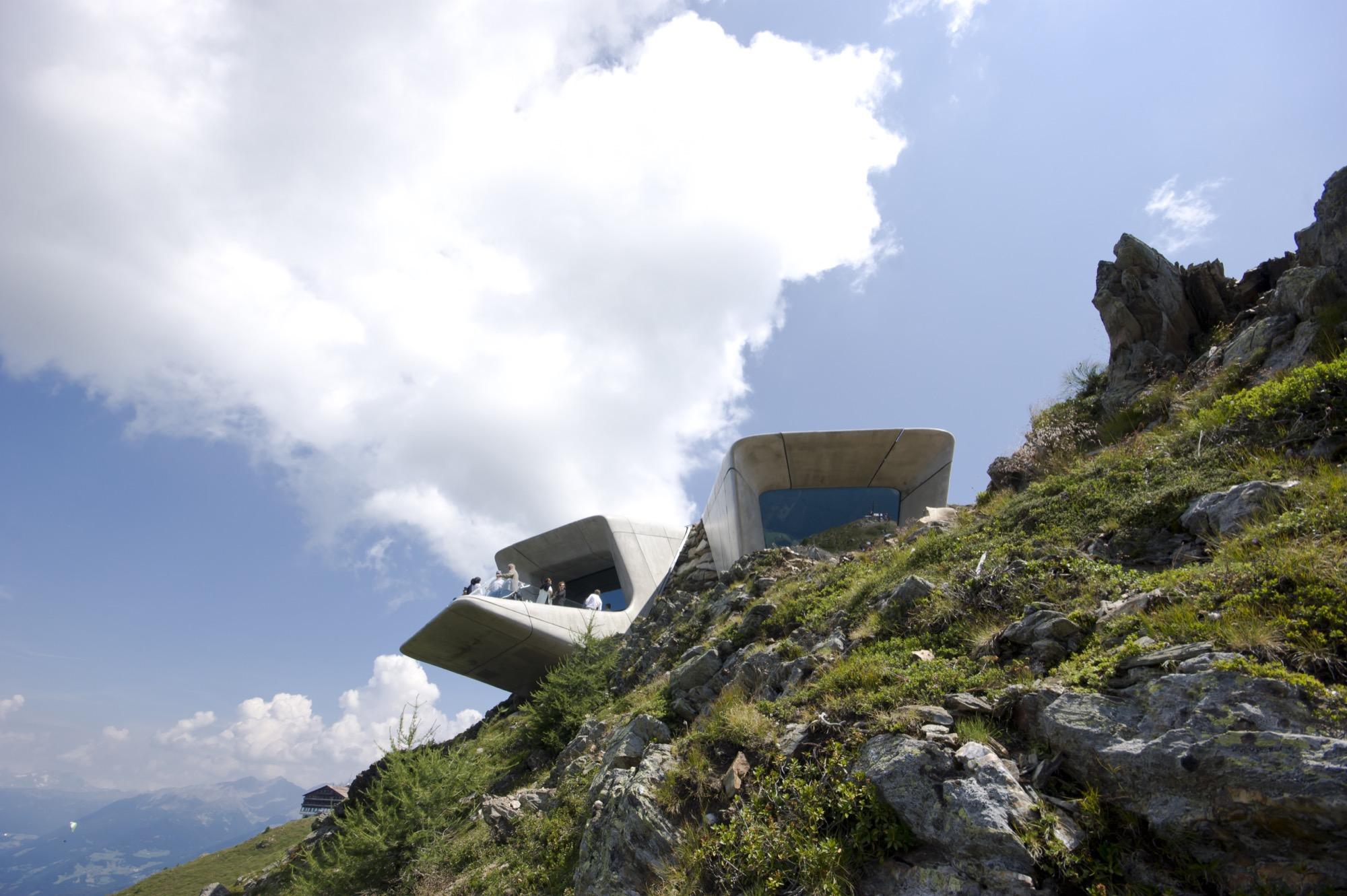 MMM Corones, Reinhold Messners mountain museum designed by Zaha Hadid