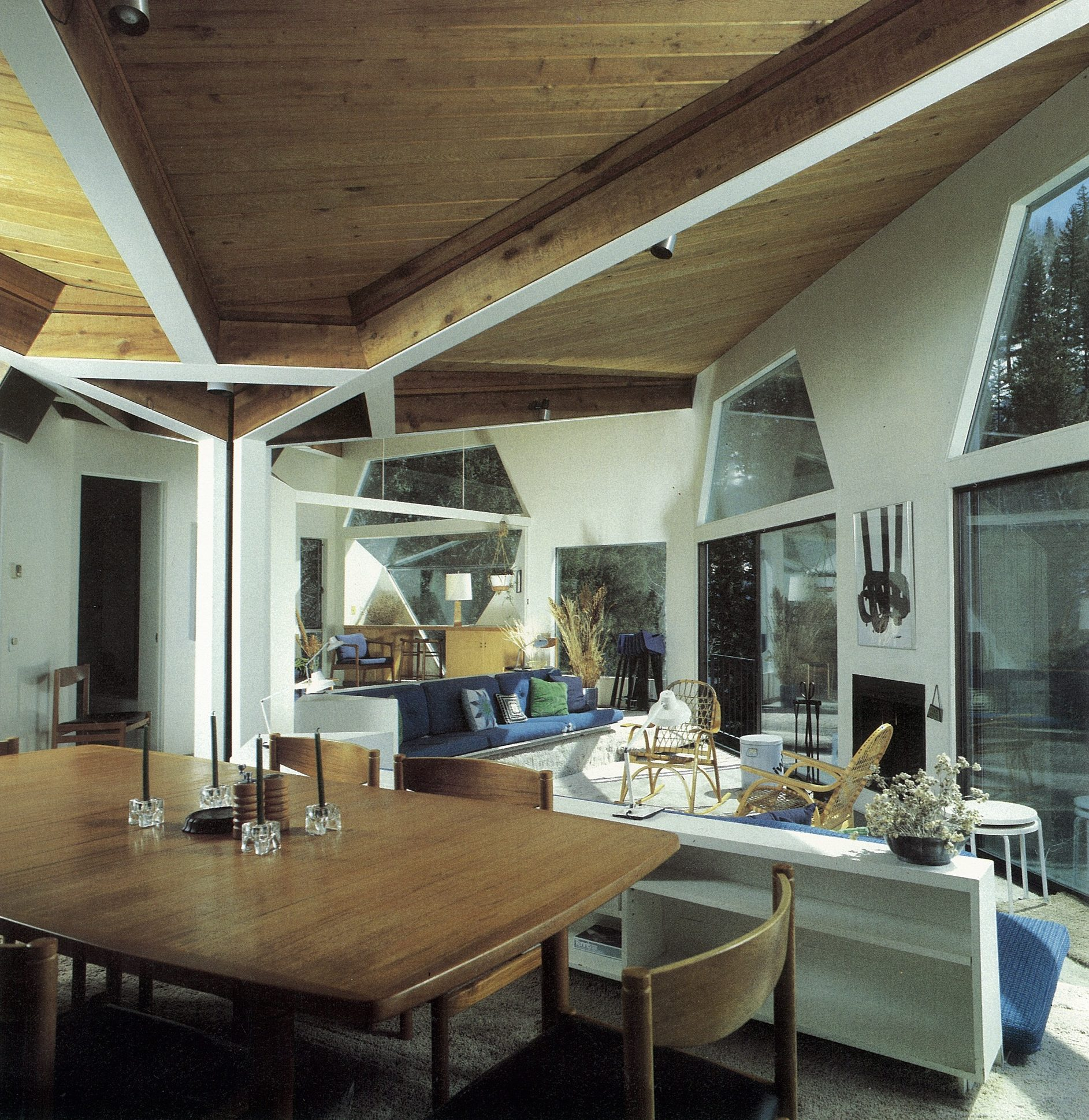 Harry Weese's Baird House, Aspen, Colorado — interior
