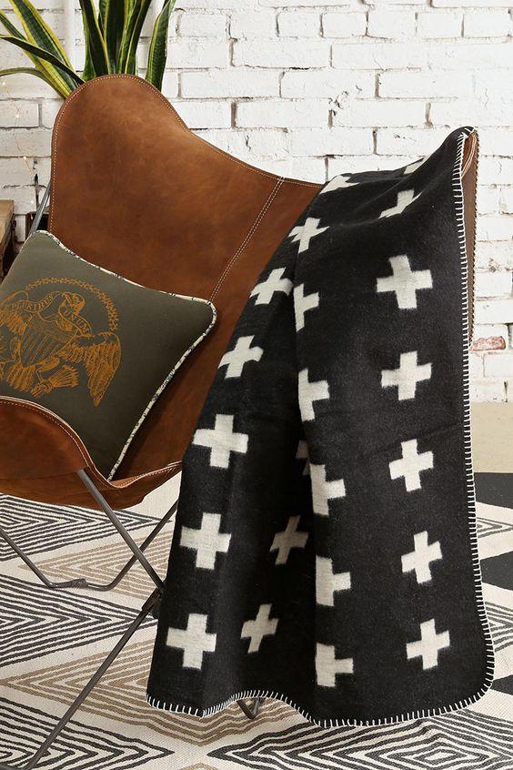 Cross Blanket by Pia Wallén
