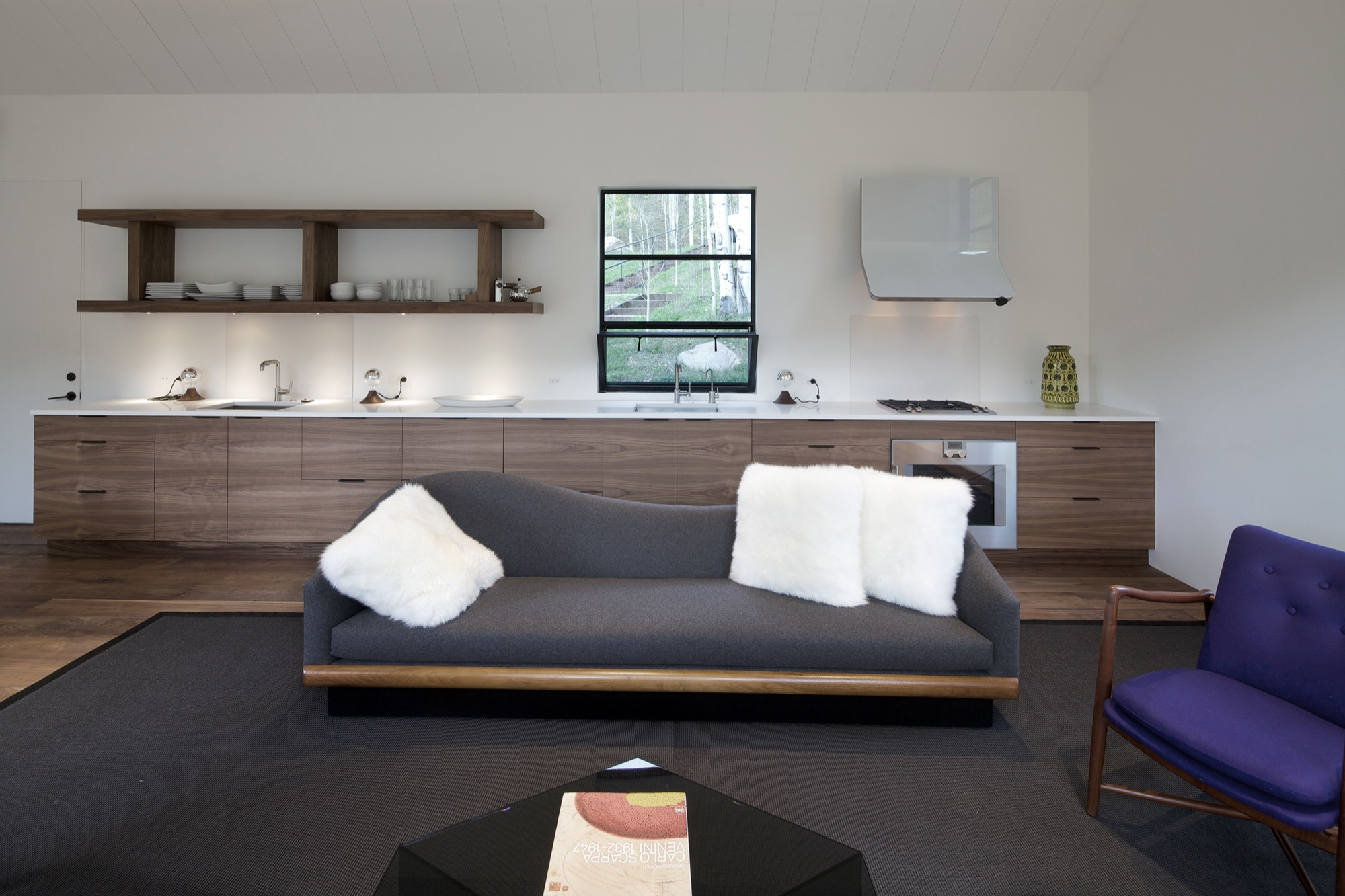 The living area includes a small kitchen so guests can be self-sufficient during their stay / Photo by Greg Watts
