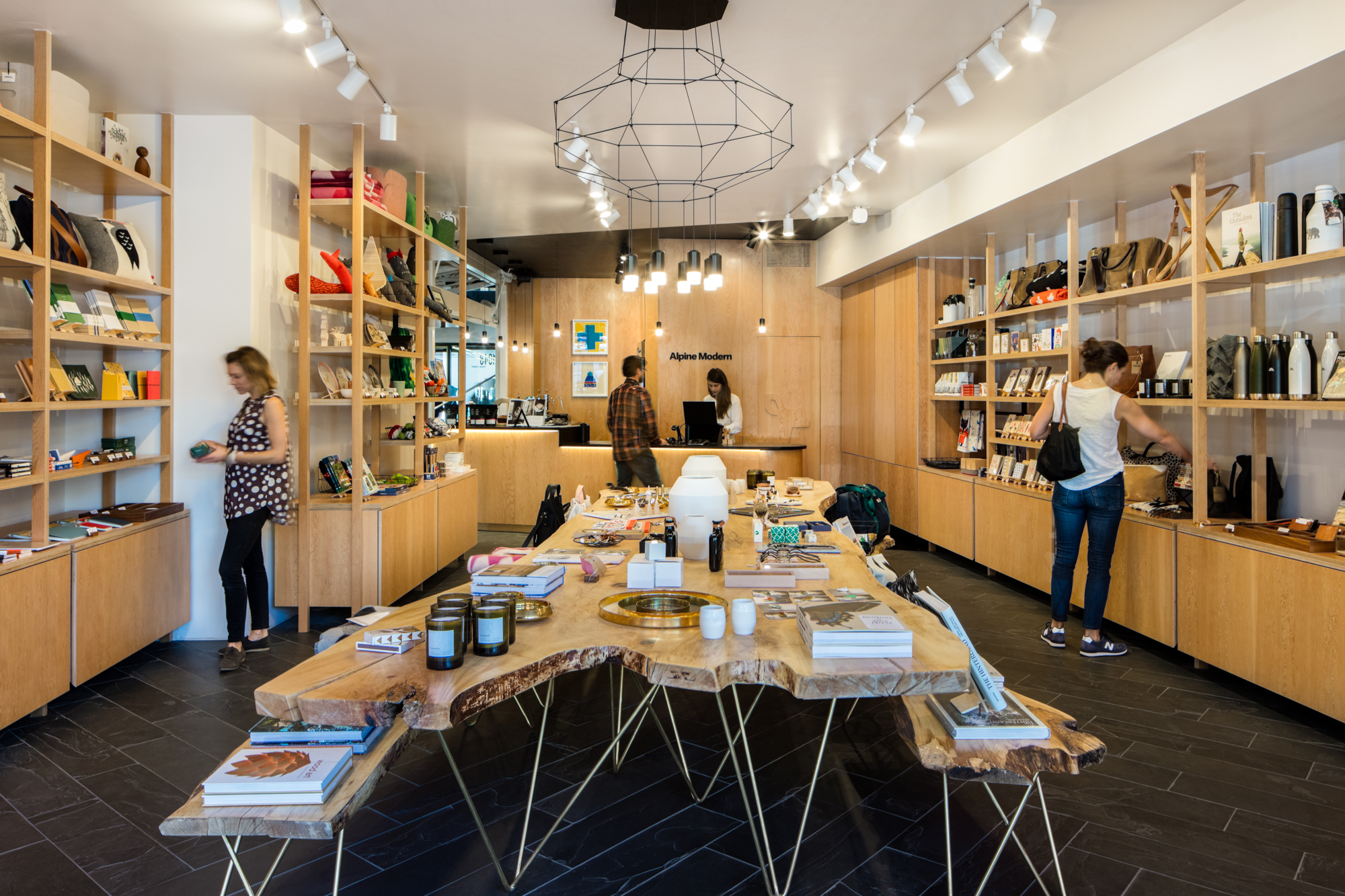 The new Alpine Modern Shop and Coffee Bar