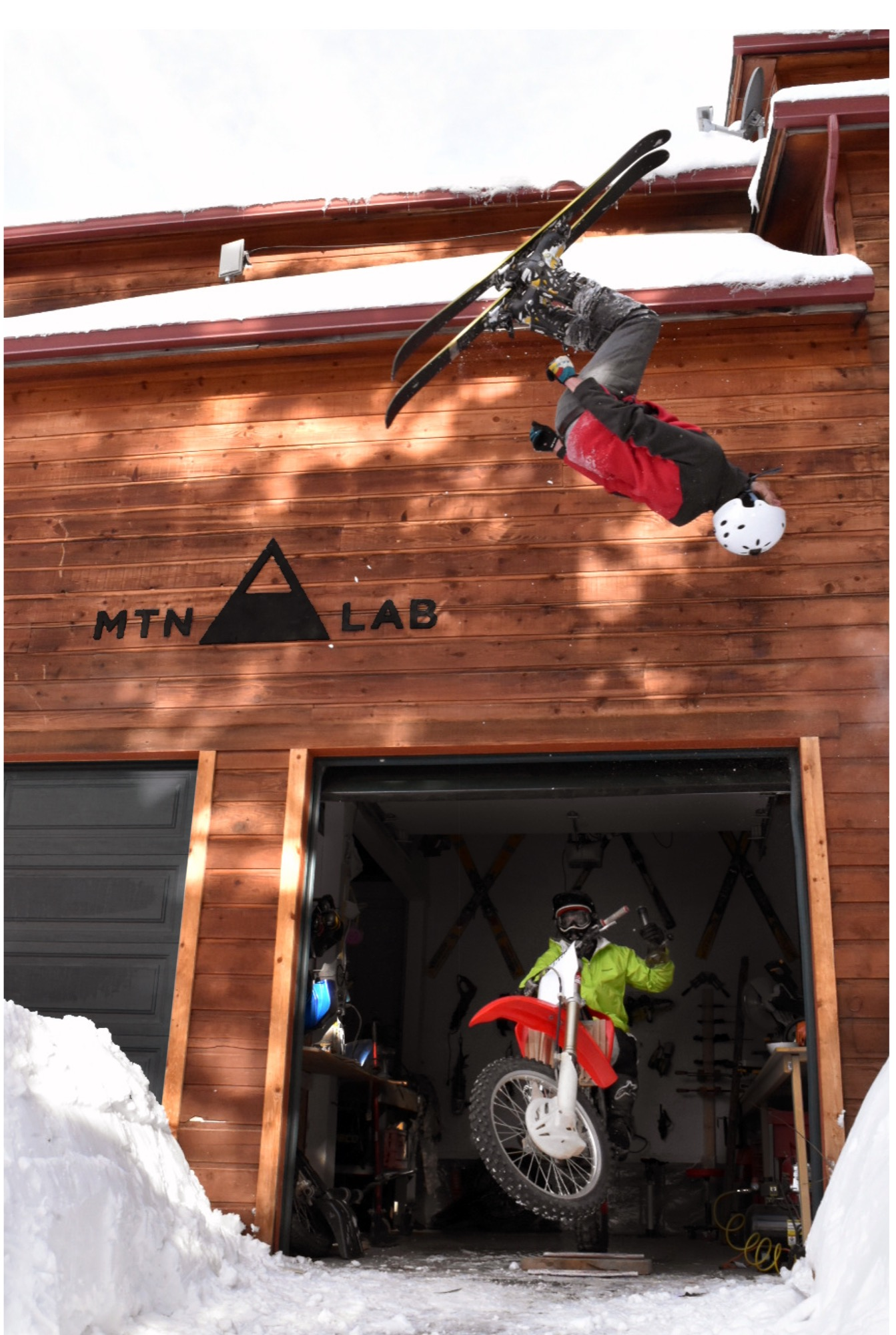 Hine and Unrau at their MTN Lab studio and home in Conifer, Colorado