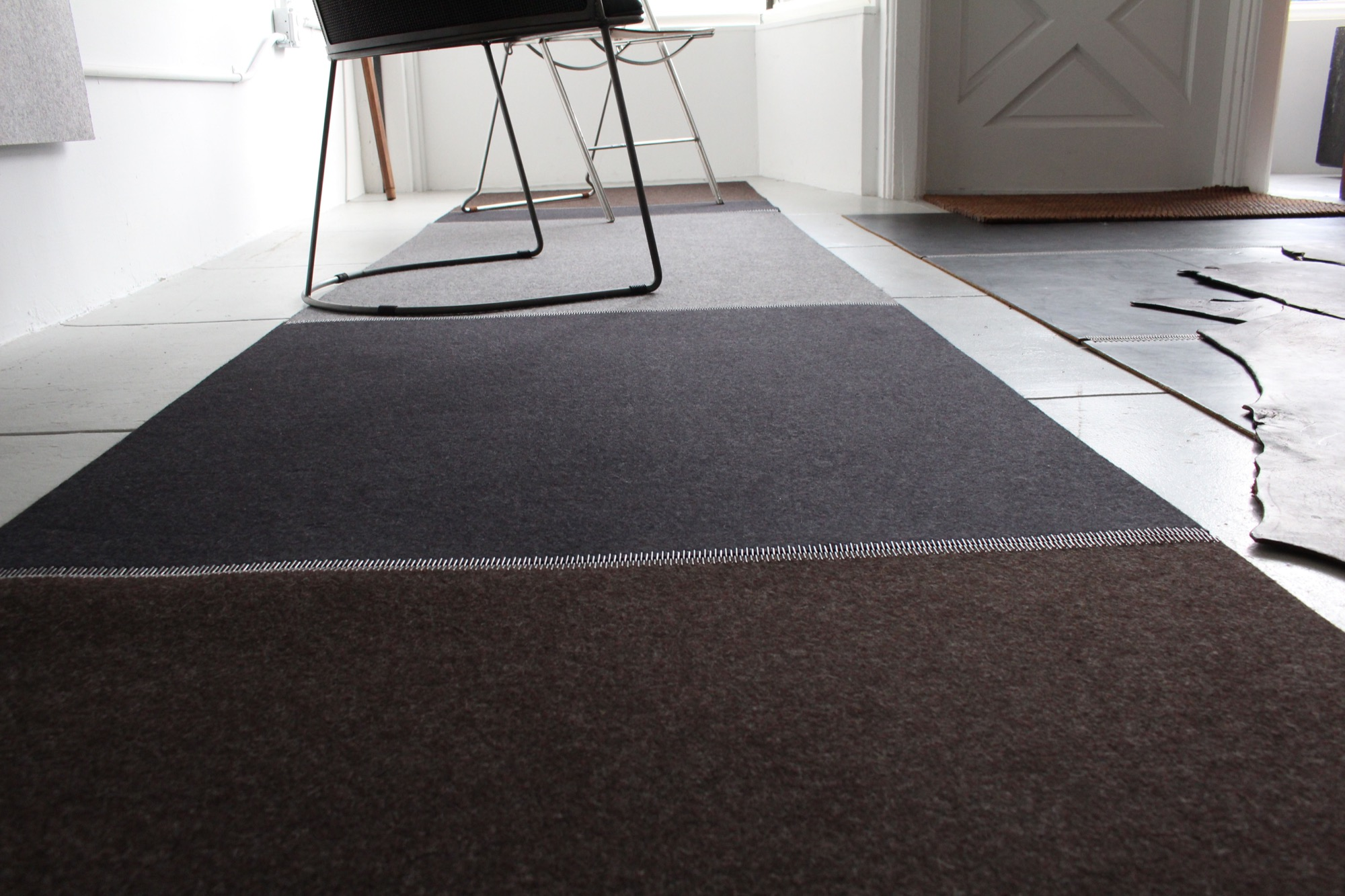 Felt Rug with industrial zipper by Jim Zivic