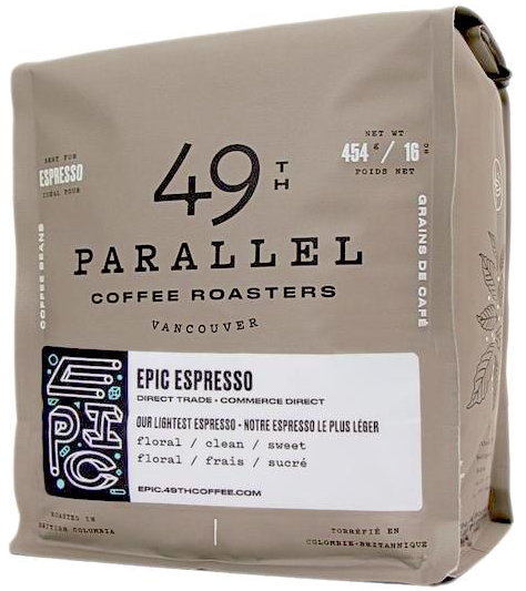 49th Parallel - We are serving this exceptional bean for our espresso drinks.Vancouver, Canada
