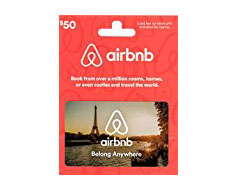 Airbnb Gift Card - I think Airbnb is 10x better than any hotel. They're more affordable, they offer more opportunities to meet people, you can save money on food with access to a kitchen and you can live like a local. Now, Airbnb also connects you with local experiences and restuarants. My favorite travel experiences have involved Airbnbs, so this card is at the top of my list.