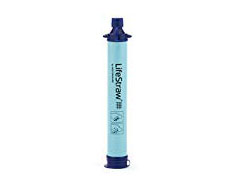 Water Purifier - If you're going to be hiking long distances or if you just want to be prepared for emergencies, you need a way to purify your water. If you can't carry all the clean water you need for your trip, you can filter water as you go with a purifier like this one.
