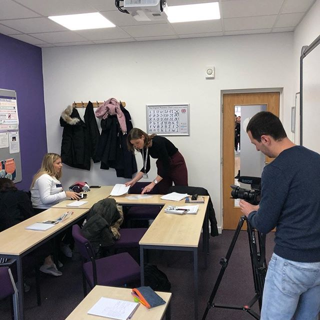 Excited to be filming @wimbledonschoolofenglish today. Great students and WSE staff as welcoming as ever #studentmarketing #internationalstudents