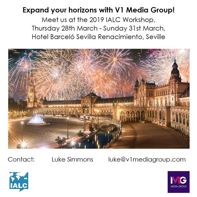 We will be at the 2019 IALC Workshop in Seville! Get in touch if you'd like to arrange a meeting to talk about how we can help you grow your business. @ialc.languages #ialcseville #workshop #seville #media #marketing