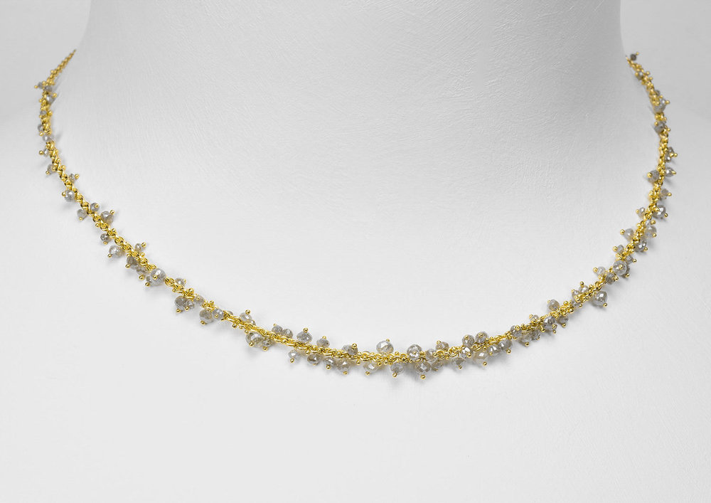 grey diamond bead necklaces - click image for more information