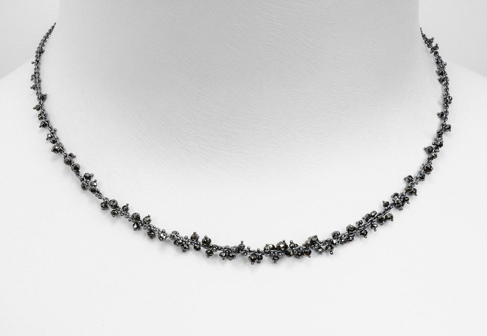black diamond bead necklaces - click image for more information