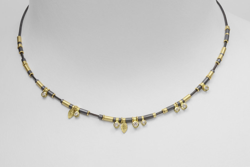 oxidized sterling & gold - click image for more information