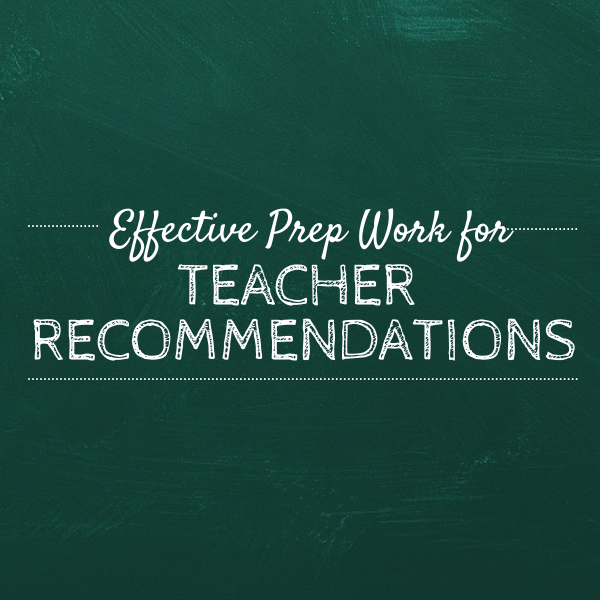 Great Teacher Recommendation Letters College Admissions Process