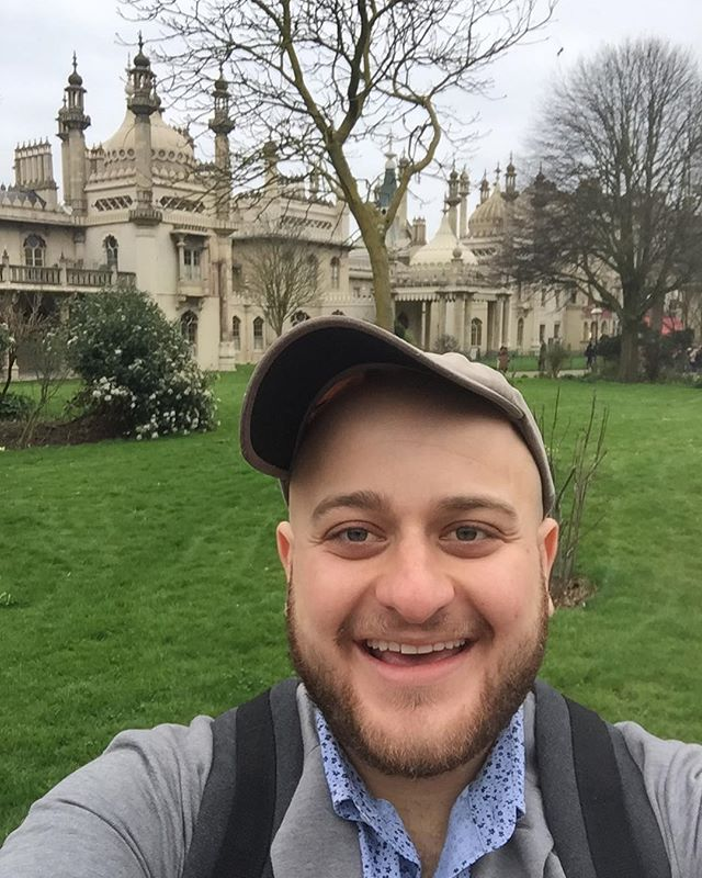 Outside the Royal Pavilion in one of my favorite places on earth - Brighton, England.