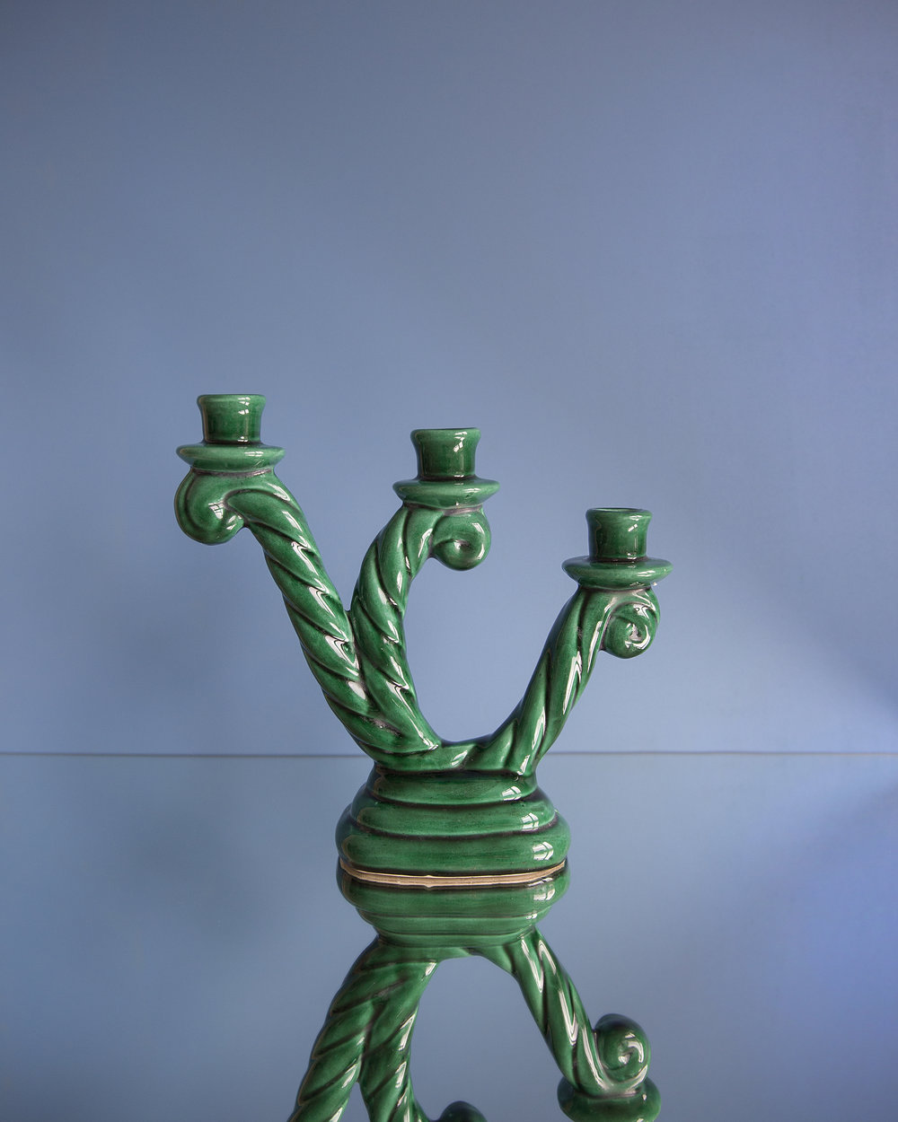 French Ceramic Candleholder