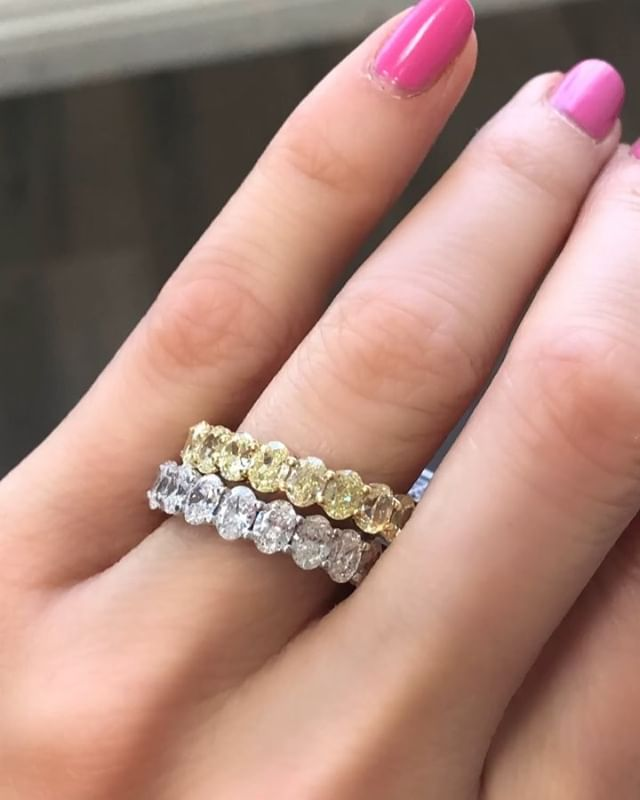 💎Diamond Rock Bands 💎  Hand made locally, colorless diamonds, 5 carats total. I am so excited to share these gorgeous bands in all shapes and sizes. 🤨Retail: $16,000 😍Private: $8500 (less for smaller, more for bigger)  #eternityband #eternitybands #ovaleternityband #emeraldeternity #diamondeternityband #diamondbands #diamondweddingband #ovalweddingband #eternityweddingband #ovaldiamondring
